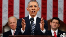 U.S. President Obama delivers State of the Union