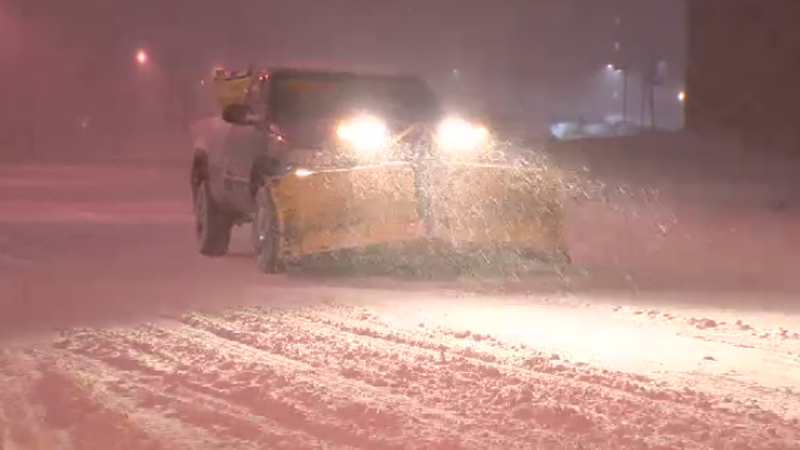 Plows are out in full force as a winter storm sweeps through the Maritimes on Jan. 13, 2016.