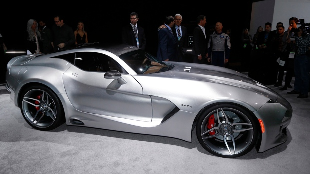 The VLF Force 1 debuts at the North American International Auto Show in Detroit, Tuesday, Jan. 12, 2016. (AP / Paul Sancya)