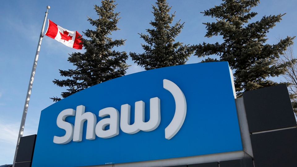 A Shaw Communications sign at the company's headquarters in Calgary on Jan. 14, 2015. (Jeff McIntosh / THE CANADIAN PRESS)