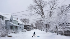 Snow storm in Halifax, N.S.