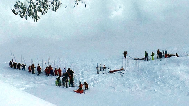 Rescue operation after avalanche in France