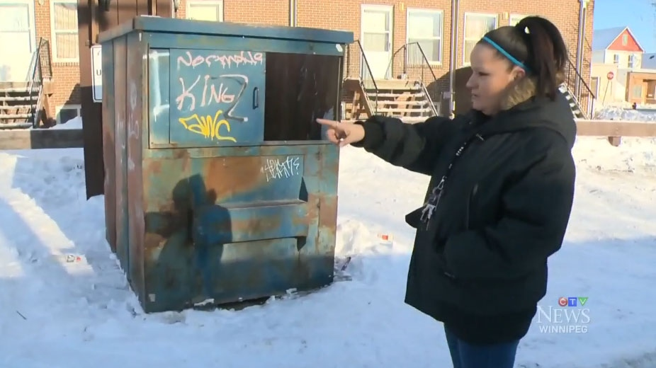 Nicole Langlois, who works in the area, found Jean-Michael inside a dumpster on Jan. 7.