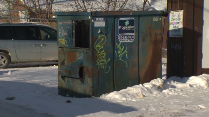 Jean-Micheal Morrissette, 13, was found inside this trash bin near Parr Street and Flora Avenue on Jan. 7, 2016.