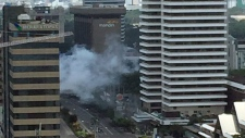 Smoke from explosions seen in Jakarta