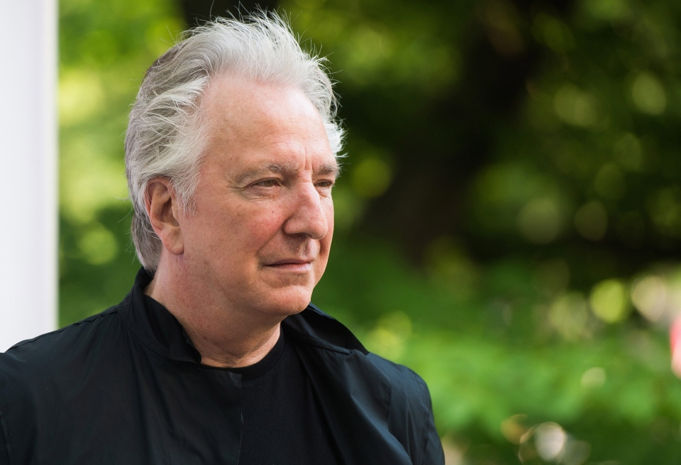 Alan Rickman attends The Public Theater's Annual Gala at the Delacorte Theater in Central Park, in New York, June 9, 2015. (Charles Sykes / Invision)