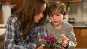 Brie Larson, left, and Jacob Tremblay appear in a scene from the film, 'Room'. (A24 Films via AP)