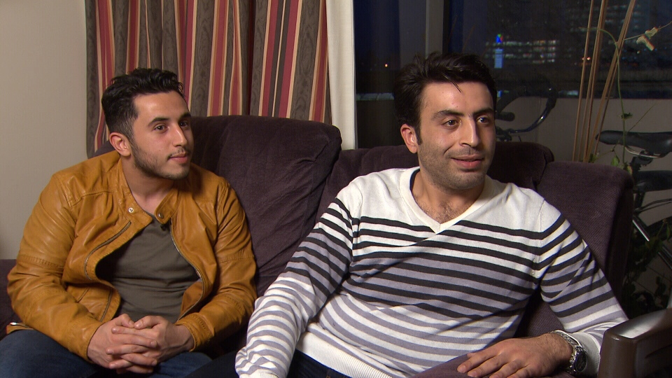 Living at their father's home in Burnaby, Yasin and Majd Alhomsi are already taking English classes and looking for jobs. (CTV)