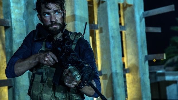"""John Krasinski as Jack Silva in the film, """"13 Hours: The Secret Soldiers of Benghazi"""" from Paramount Pictures and 3 Arts Entertainment/Bay Films. (Christian Black / Paramount Pictures)"""