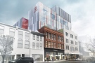 An artist's rendering provided by Fanshawe College shows plans for the future of the Kingsmill's building in downtown London, Ont.