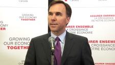 Finance Minister Bill Morneau speaks in Calgary