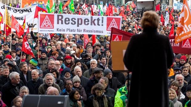 Stuttgart, Germany protest