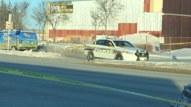 Police at Regent Avenue and Starlight Drive after a police chase following a robbery early Saturday morning.