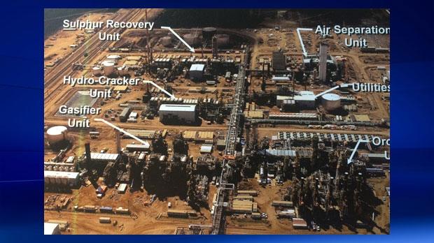 Aerial map of Nexen's Long Lake facility south of Fort McMurray (courtesy: Nexen)