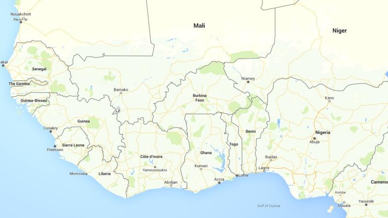 Map of Burkina Faso location