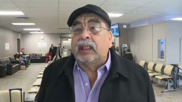 Chief Timothy Muskego of Bunibonibee First Nation says it's expensive to fly essential goods in without winter roads.