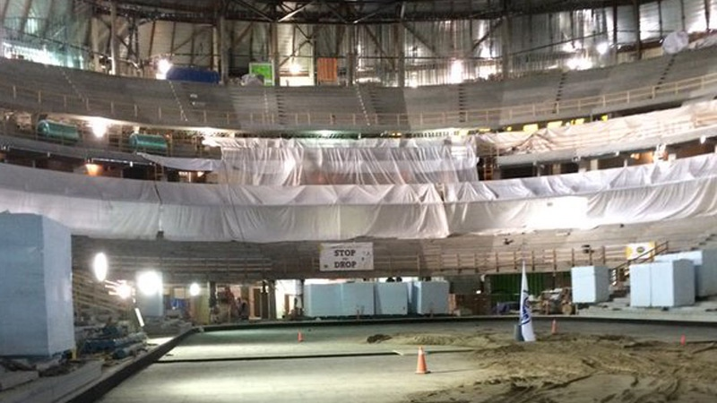 Members of the public had a tour of Edmonton's new downtown arena Saturday. (Breanna Karstens-Smith/ CTV News)