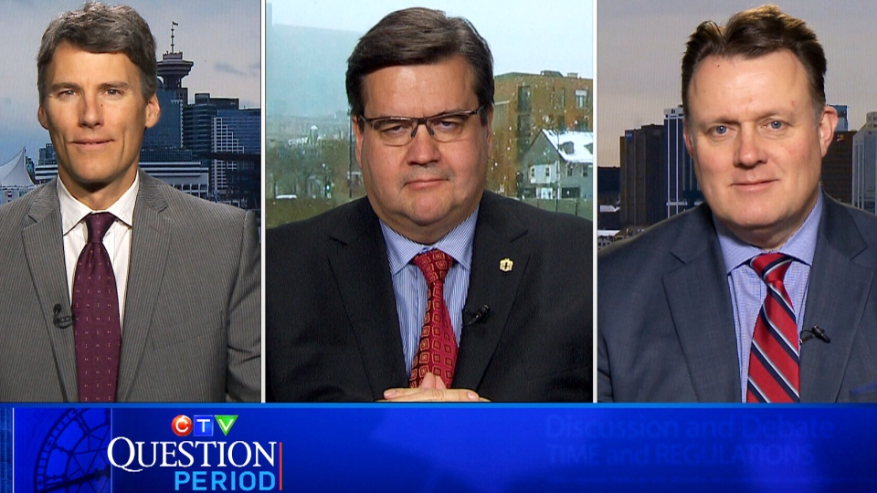 Vancouver Mayor Gregor Robertson, Montreal Mayor Denis Coderre and Halifax Mayor Mike Savage speak to CTV's Question Period on Jan. 17, 2016.