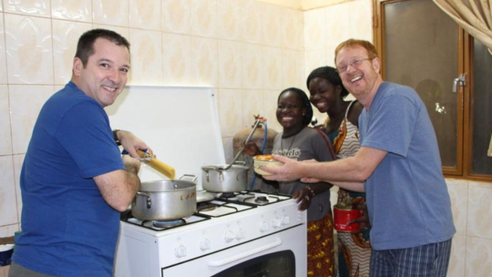 Seen in this 2013 photo, Louis Chabot and Yves Carrier had spent time previously in Burkina Faso.