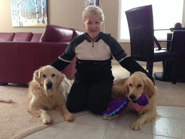 Penny Maring holds dogs Jake and Chloe on Sunday, Jan. 17, 2016 in Barrie, Ont. (Heather Butts/ CTV Barrie)