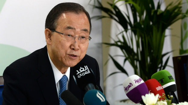 Ban Ki-moon discusses need for aid funding