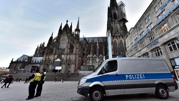 Police patrol in Cologne, Germany