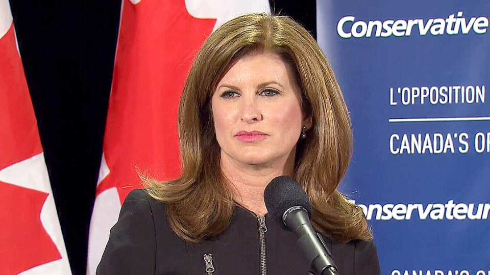 Interim Conservative leader Rona Ambrose speaks at the Canadian Club of Toronto Monday, Jan. 18, 2016.