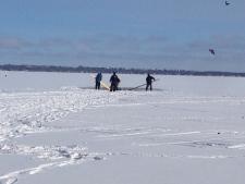 ATV goes through ice on Lake Simcoe