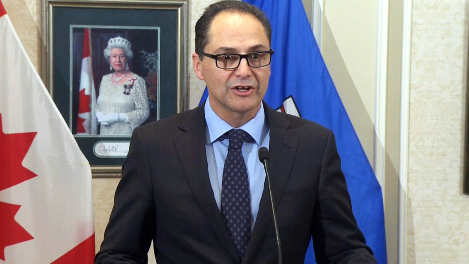Alberta Finance Minister Joe Ceci comments on the province's credit outlook, in Edmonton, Monday, Jan. 18, 2016.