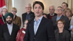 Prime Minister Justin Trudeau holds a media availability during a cabinet retreat at the Algonquin Resort in St. Andrews, N.B. on Monday, Jan. 18, 2016. (Andrew Vaughan / THE CANADIAN PRESS)