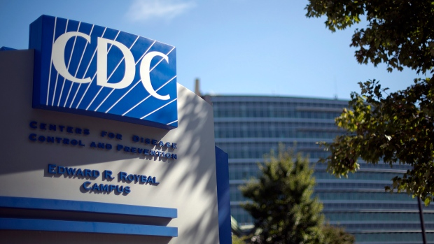 In this Oct. 8, 2013, file photo, a sign marks the entrance to the federal Centers for Disease Control and Prevention in Atlanta. (AP Photo/David Goldman, File)