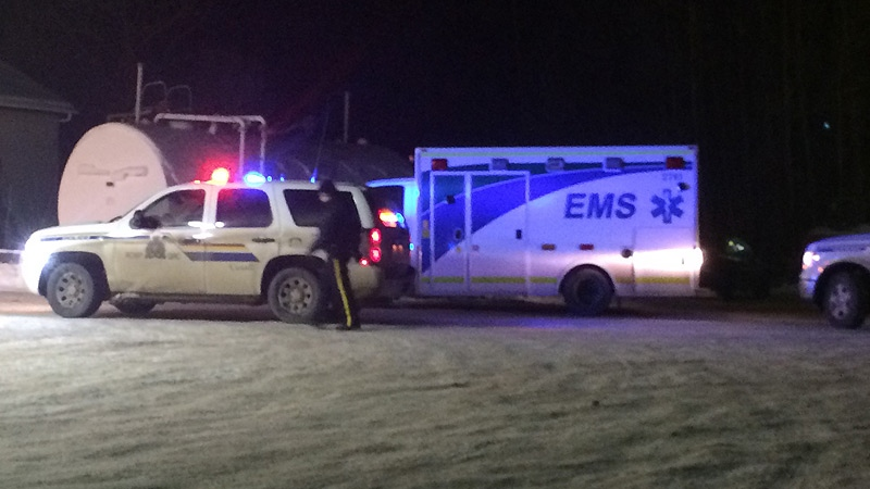 Police stopped the ambulance near Smithfield, Alta, at the intersection of RR 32 and Hwy 16.