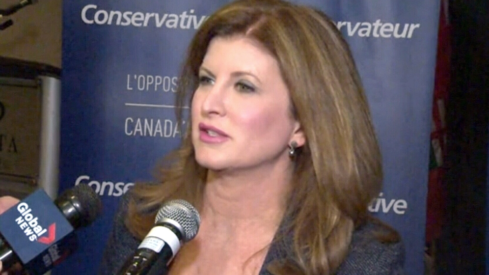 Conservative interim leader Rona Ambrose speaks to reporters in Winnipeg, Tuesday, Jan. 19, 2016.