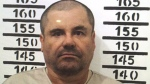 """Mexico's most wanted drug lord, Joaquin """"El Chapo"""" Guzman, stands for his prison mug shot with the inmate number 3870 at the Altiplano maximum security federal prison in Almoloya, Mexico, Jan. 8, 2016. (Mexico's federal government via AP)"""