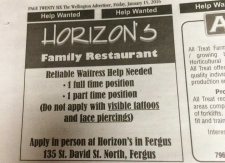 Horizon want ad