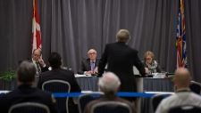 NEB panel members at Trans Mountain hearings