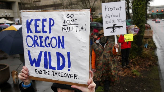 Protests against Oregon wildlife refuge occupation