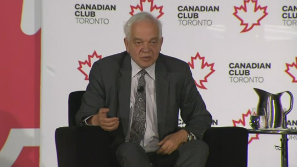 Immigration Minister John McCallum speaks at The Canadian Club in Toronto, Jan. 20, 2016.