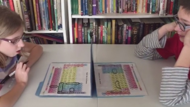 Periodic table Battleship game