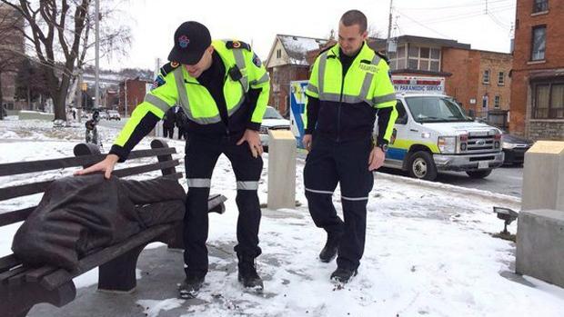 Homeless jesus statute in Hamilton