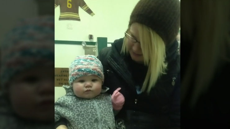 Kristin Hiebert and her daughter, Avery, are recovering after a car crash on a rural Manitoba highway on Jan. 17, 2016.