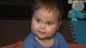 N.B. mother Ashley Barnaby has been told she cannot donate her kidney to her son Zaccari Buell, who is pictured.