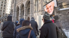 Visitation lineup for Rene Angelil in Montreal