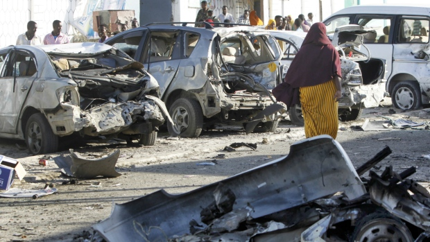 Aftermath of restaurant siege in Mogadishu
