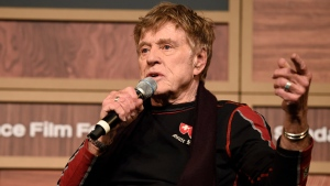 Robert Redford, founder and president of the Sundance Institute, addresses reporters during the 2016 Sundance Film Festival Opening Day Press Conference at the Egyptian Theatre on Thursday, Jan. 21, 2016, in Park City, Utah. (Chris Pizzello/Invision/AP)