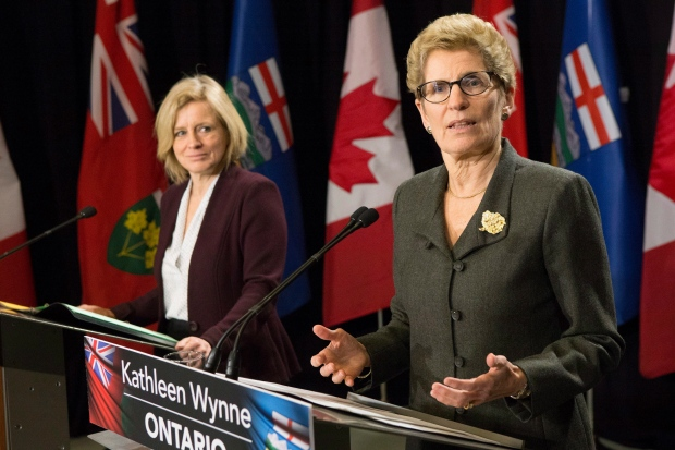Kathleen Wynne and Rachel Notley