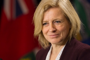 Alberta Premier Rachel Notley is the last NDP premier in Canada following the party's defeat in Manitoba's general election.(Chris Young / THE CANADIAN PRESS)