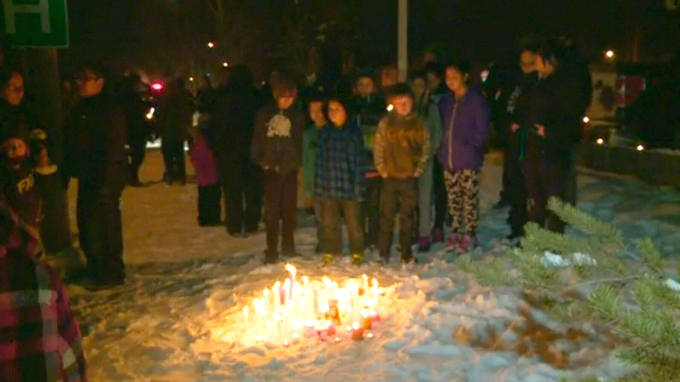 Vigil in La Loche, Saskatchewan Friday night for victims of the school shooting
