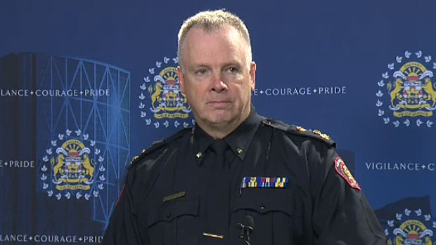 In this file photo, Calgary Police Chief Roger Chaffin speaks to the media on Jan. 25, 2016.