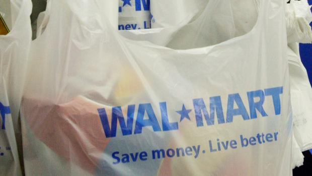 Bags at a Walmart store